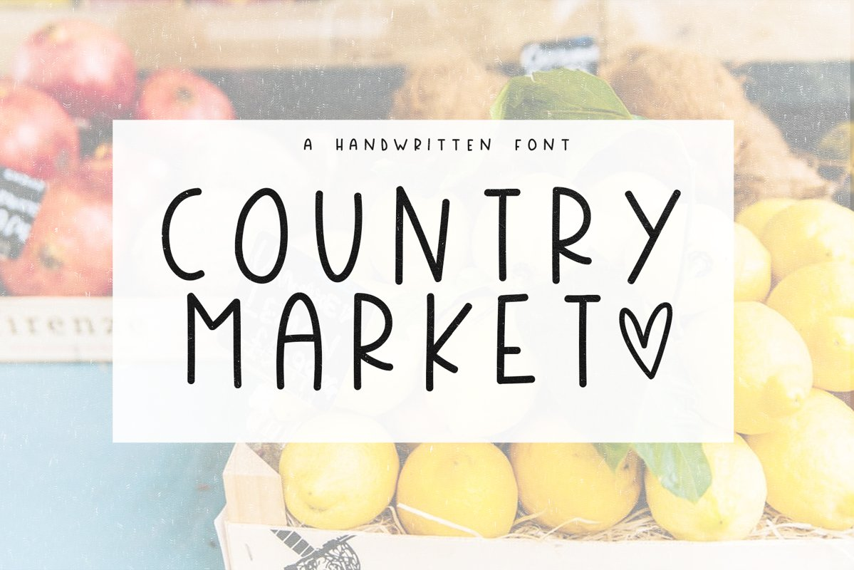 Country Market - A Handwritten Display Font example image 1