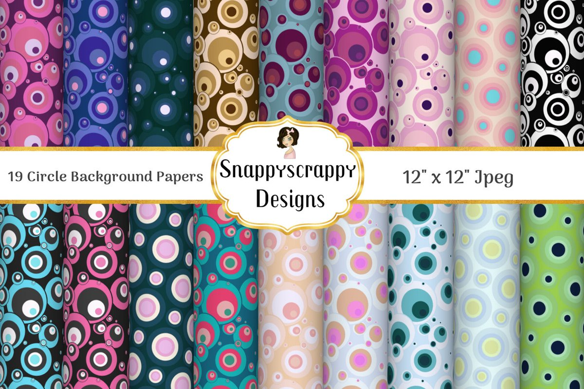 Circle Background papers example image 1