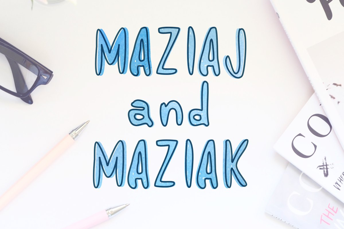 Maziaj and Maziak - 2 fonts example image 1