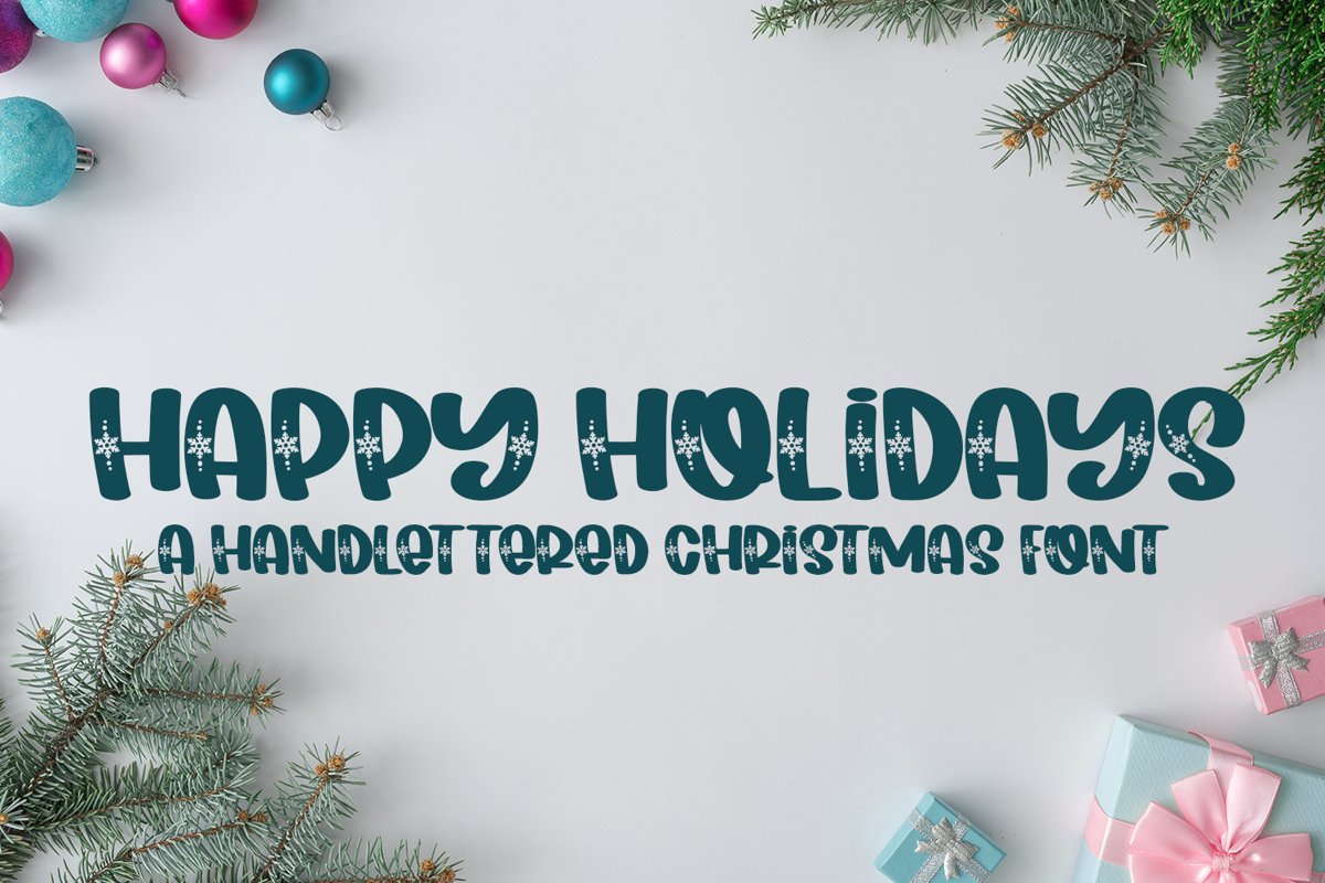 Happy Holidays - A Hand-Lettered Christmas Font example image 1