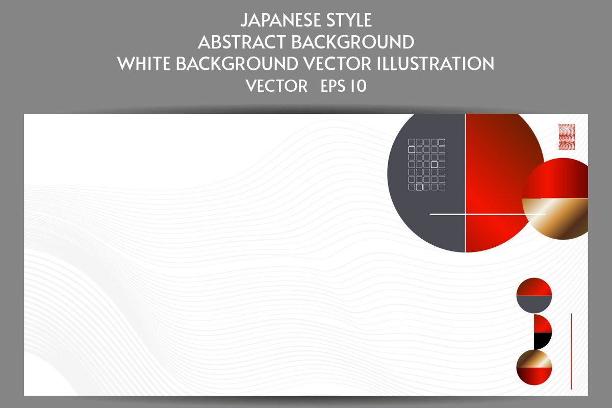 Abstract Japanese style white background with lines eps 10 example image 1