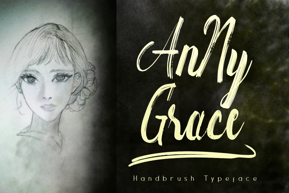 Anny Grace Handbrush Typeface example image 1