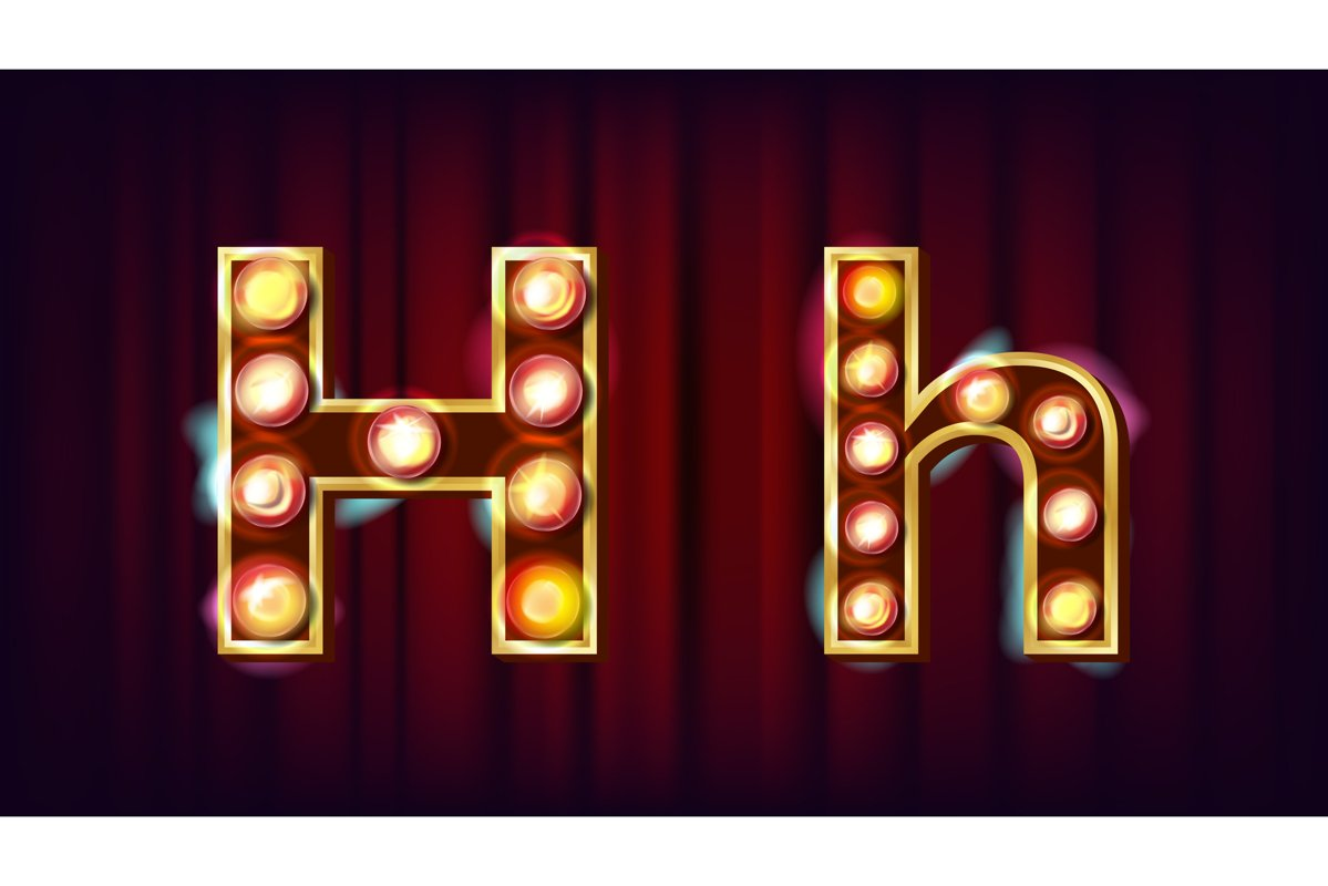 H Letter Vector. Capital example image 1