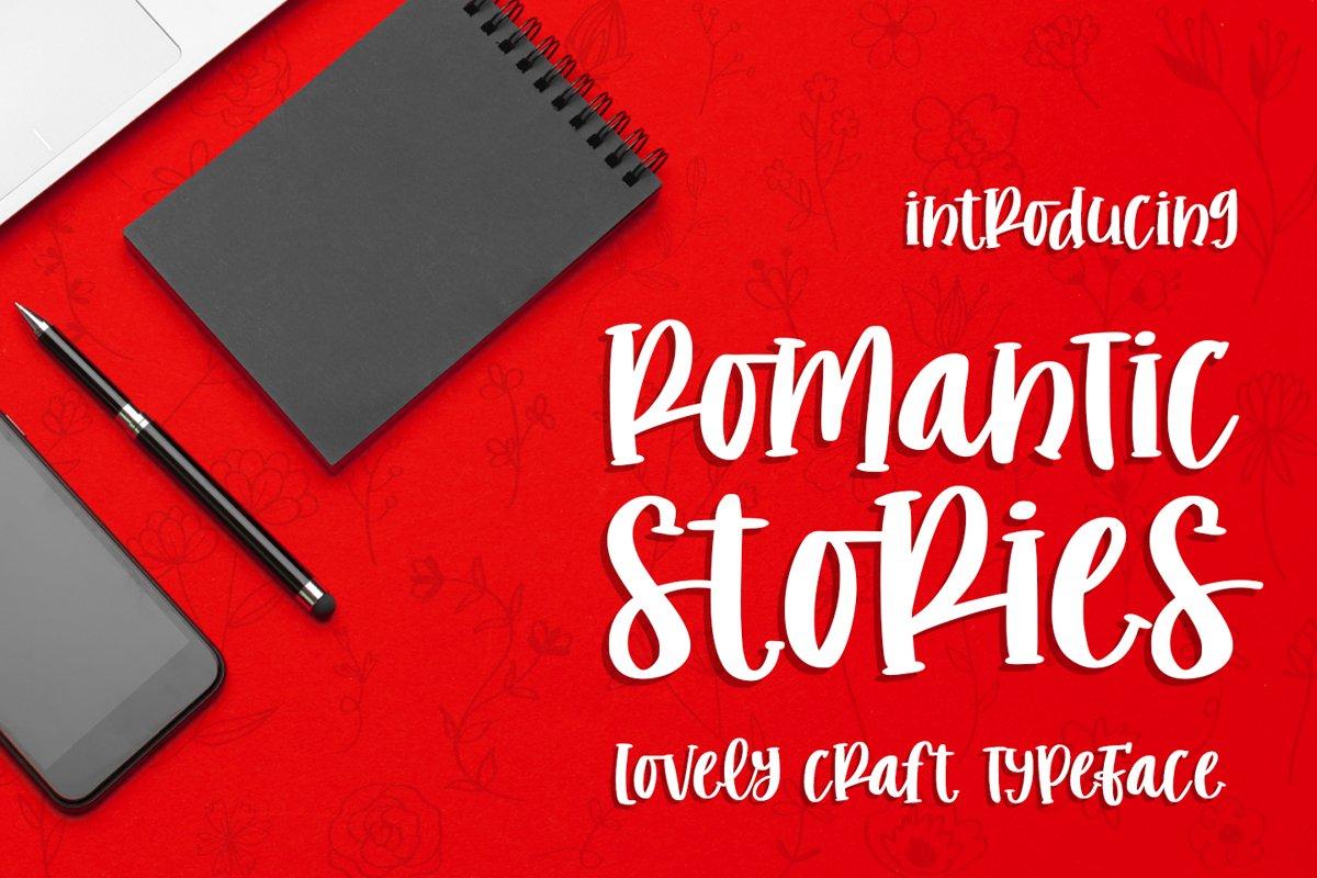 romantic stories - handcraft font - example image 1