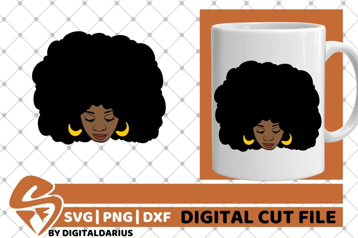 Black Woman svg, Natural Hair svg, Melanin svg, Afro Queen example image 1