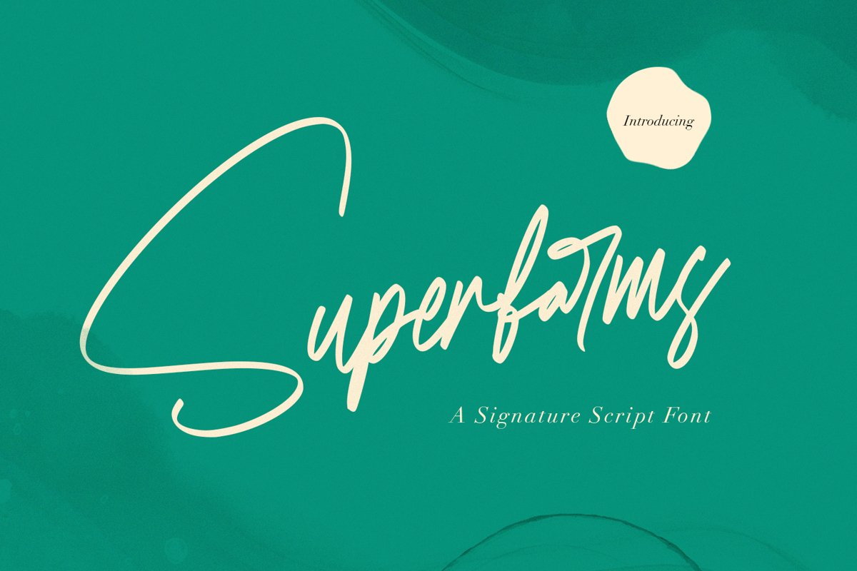 Superfarms - Signature Script Font example image 1