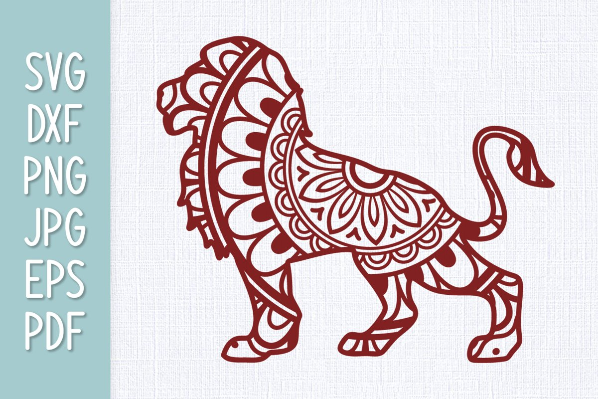 Download Lion Mandala SVG