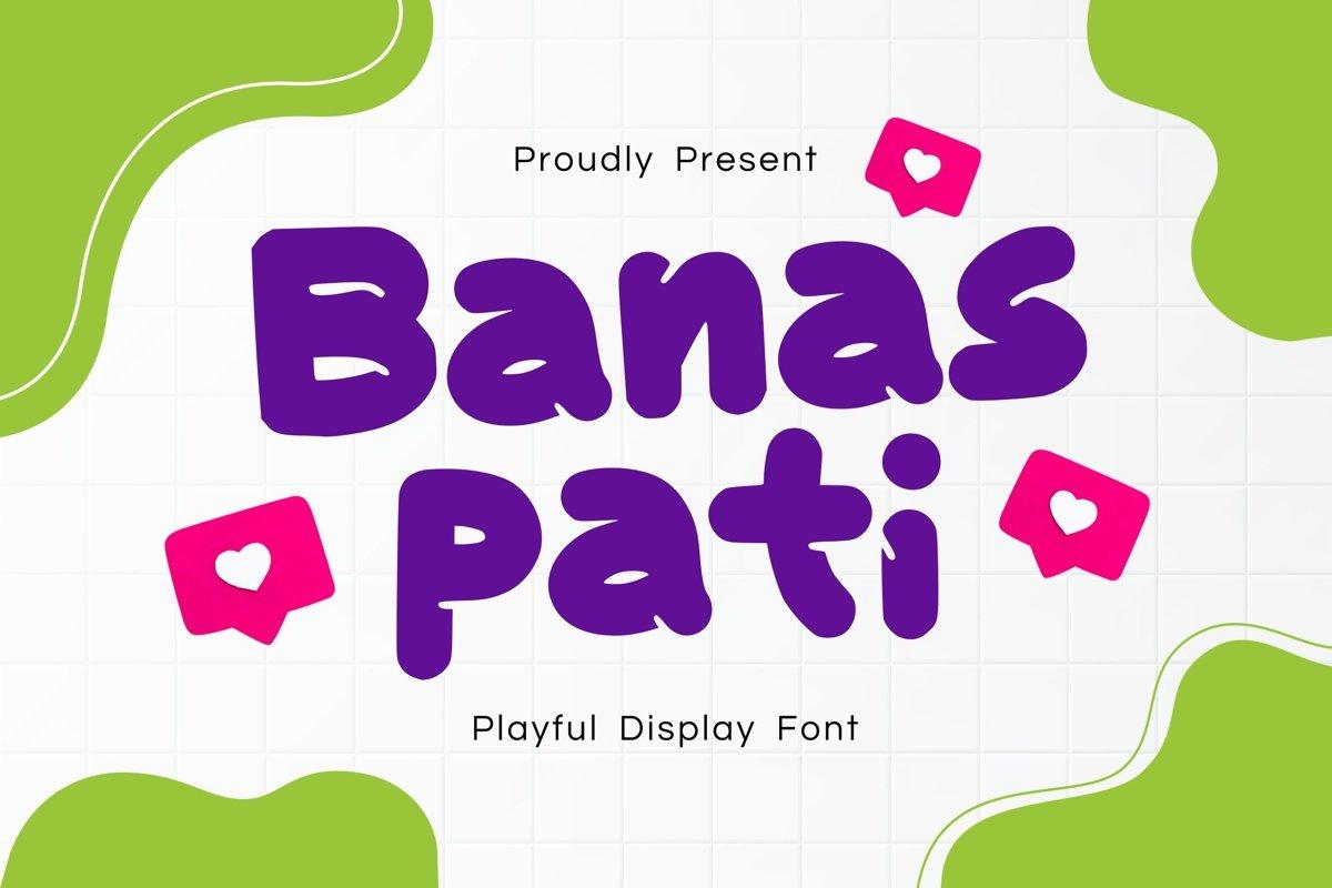 Banaspati Display Font example image 1