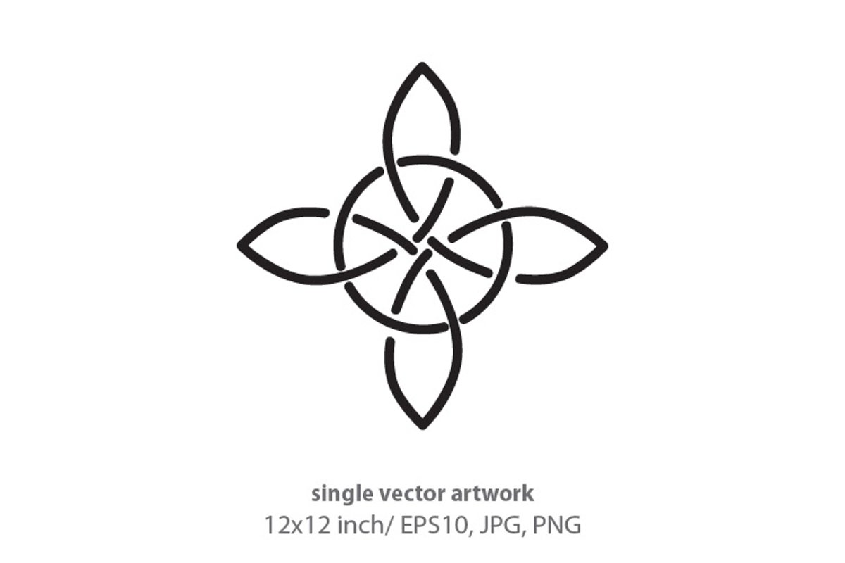Simple Celtic Border- single vector artwork example image 1