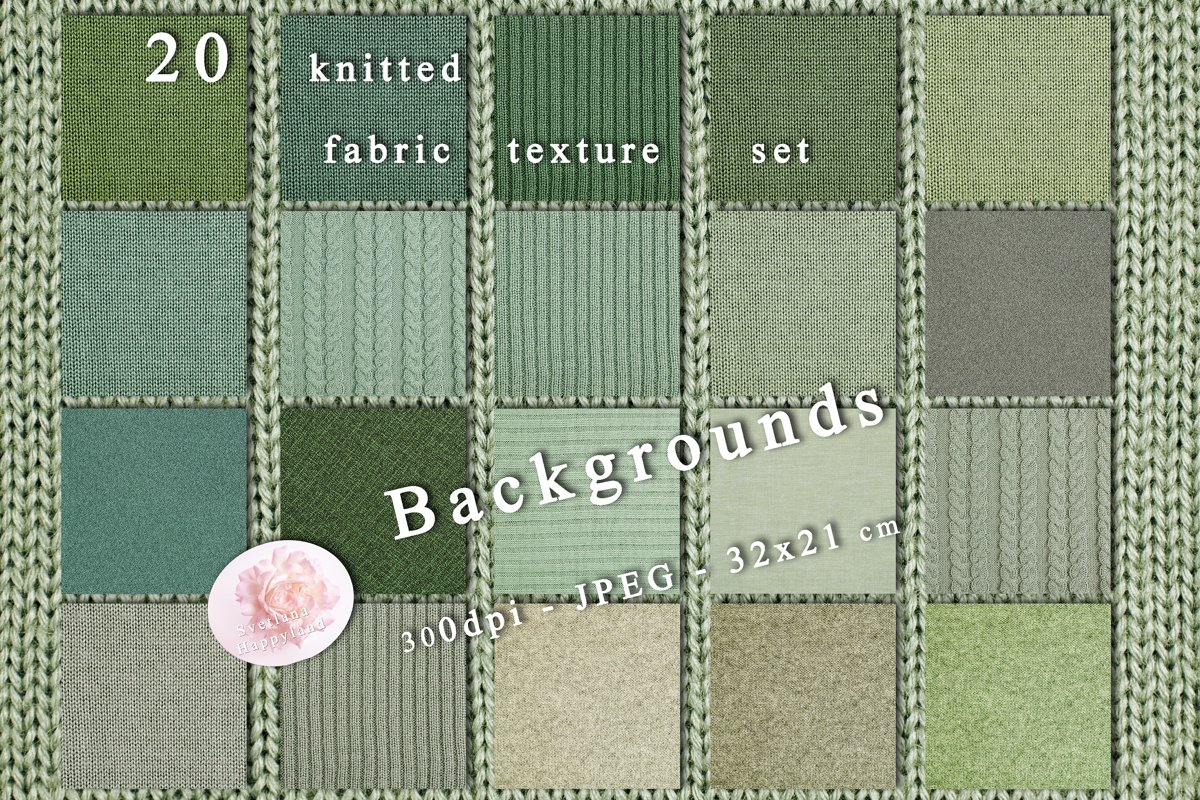 20 knitted fabric texture set example image 1