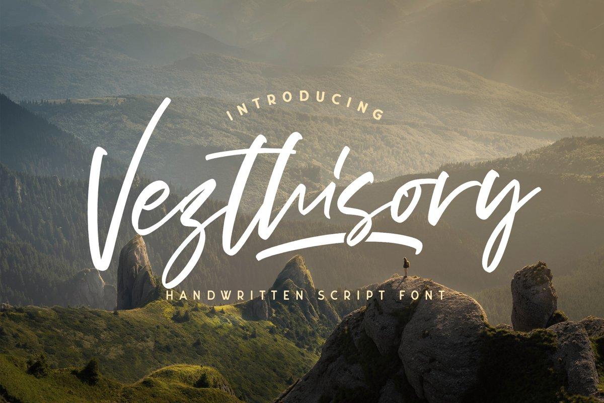 Vezthisory - Handwritten Font example image 1