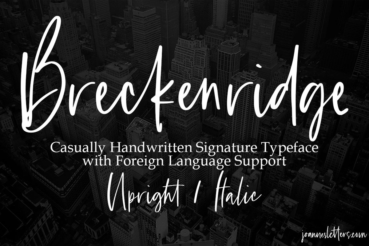 Breckenridge Signature Font Duo Casual Signature Typeface example image 1