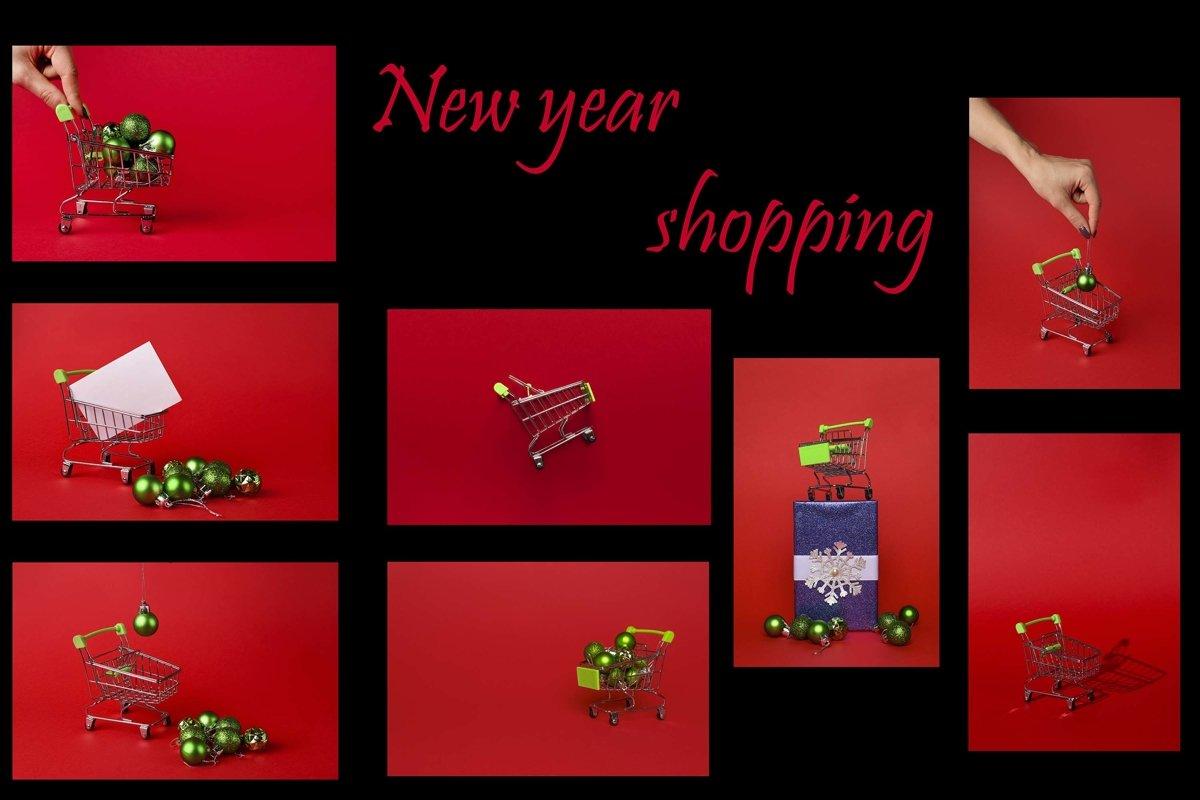 "Set of 8 photos ""Christmas shopping"" example image 1"