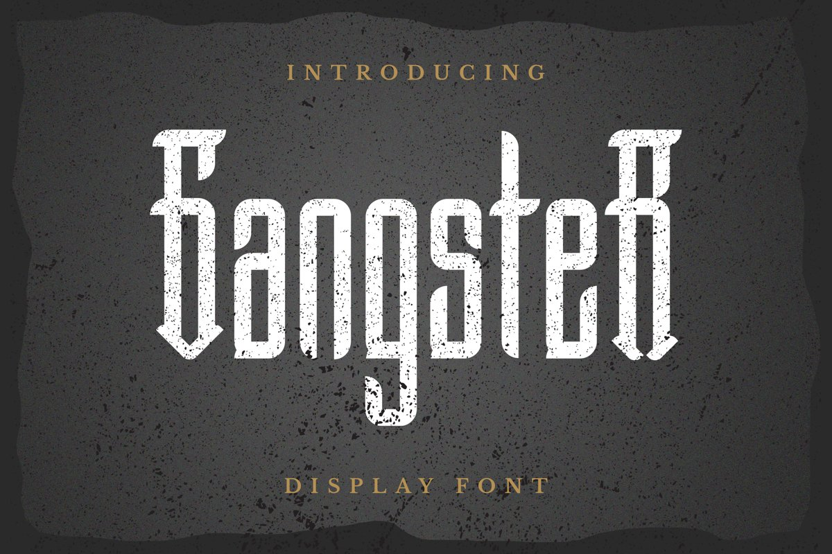 Gangster Font example image 1