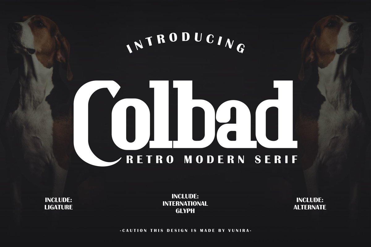 Colbad | Retro Modern Serif example image 1