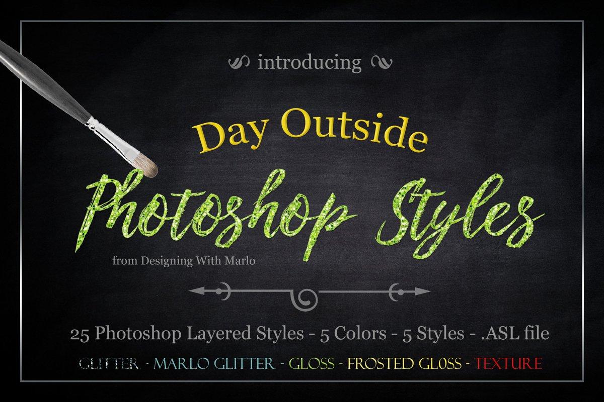 Day Outside - Layered Photoshop Styles example image 1