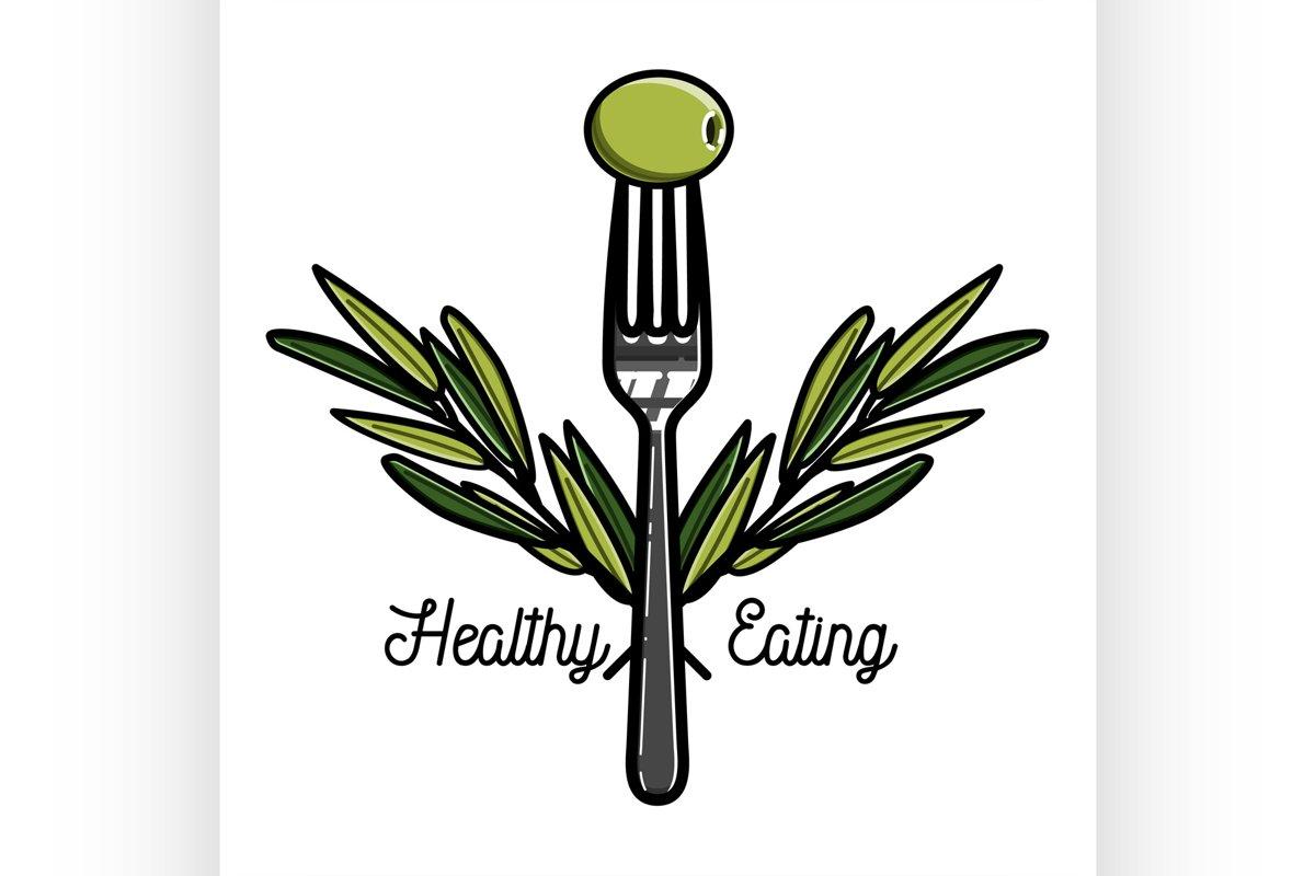Color vintage nutritionist emblem example image 1