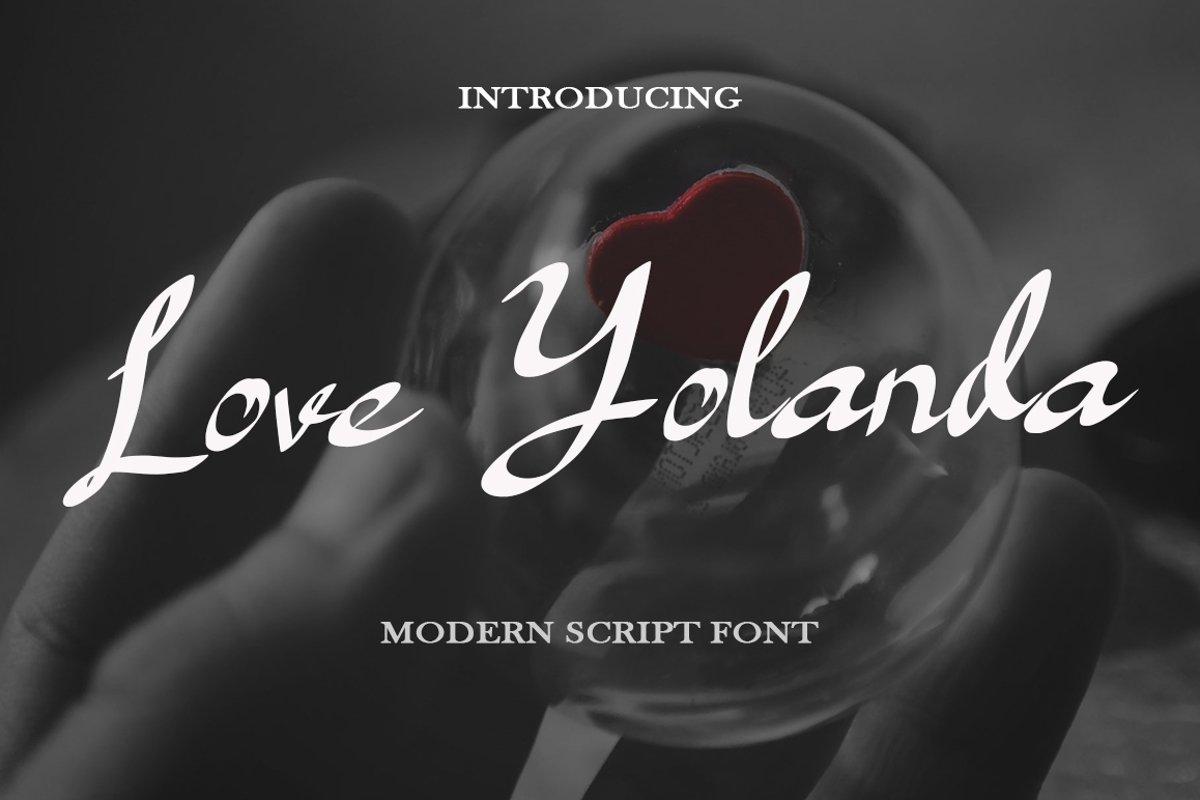 Love Yolanda - Font example image 1