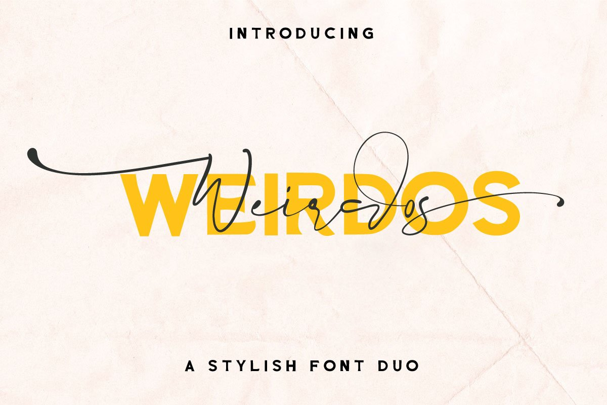 Weirdos Font Duo example image 1