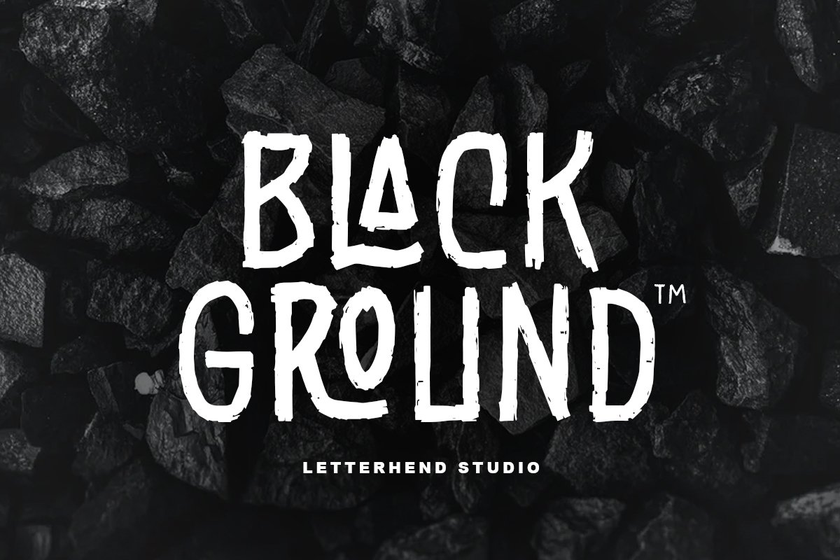 Black Ground - Rustic Typeface example image 1