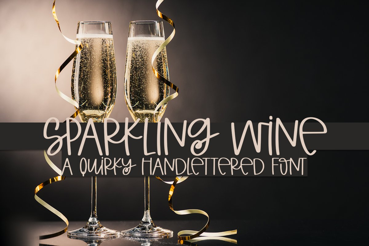 Sparkling Wine - A Quirky Hand-Lettered Font example image 1