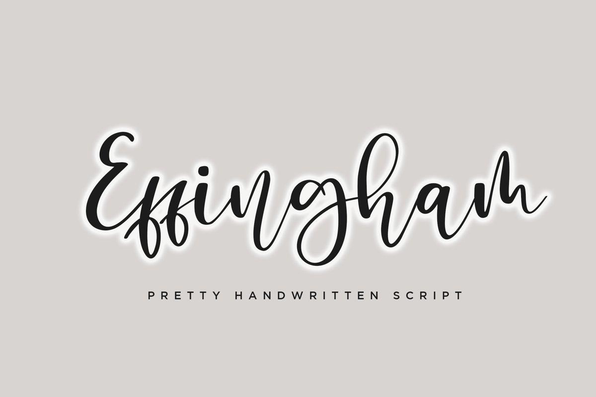 Effingham a Cute Bouncy Handwritten Font example image 1