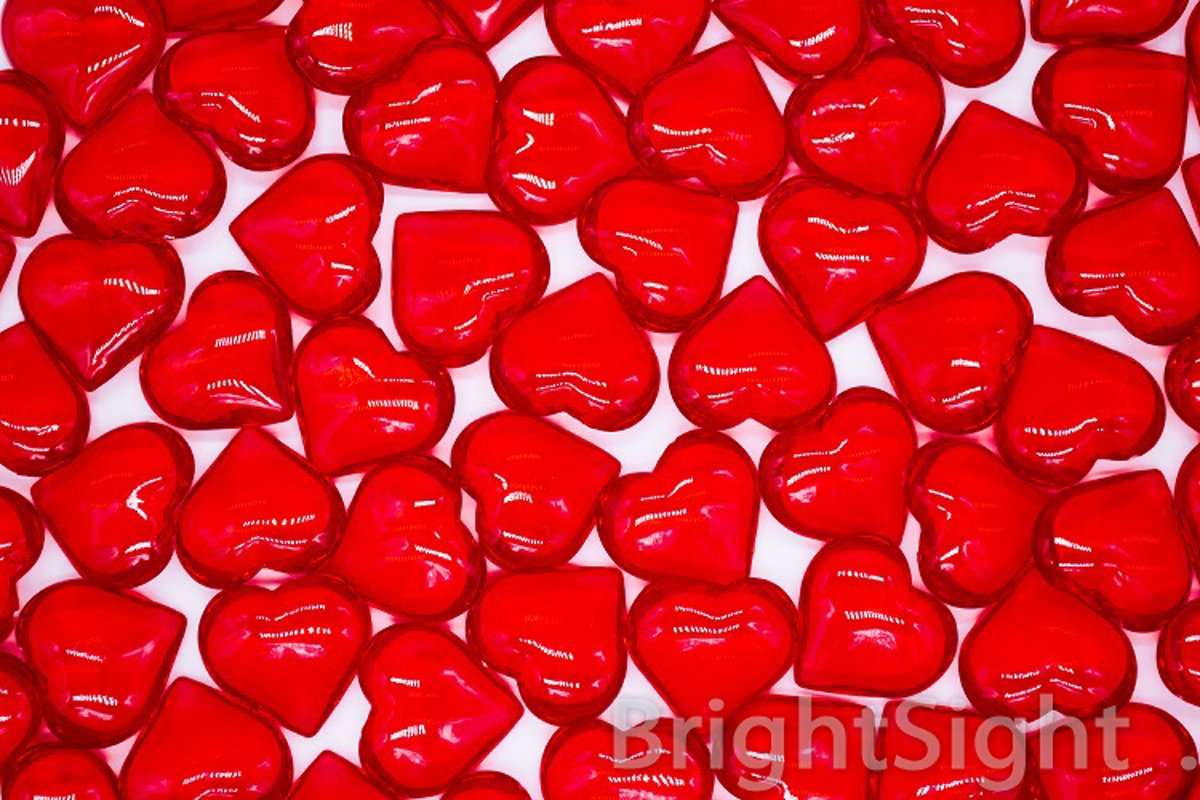 Red hearts background example image 1