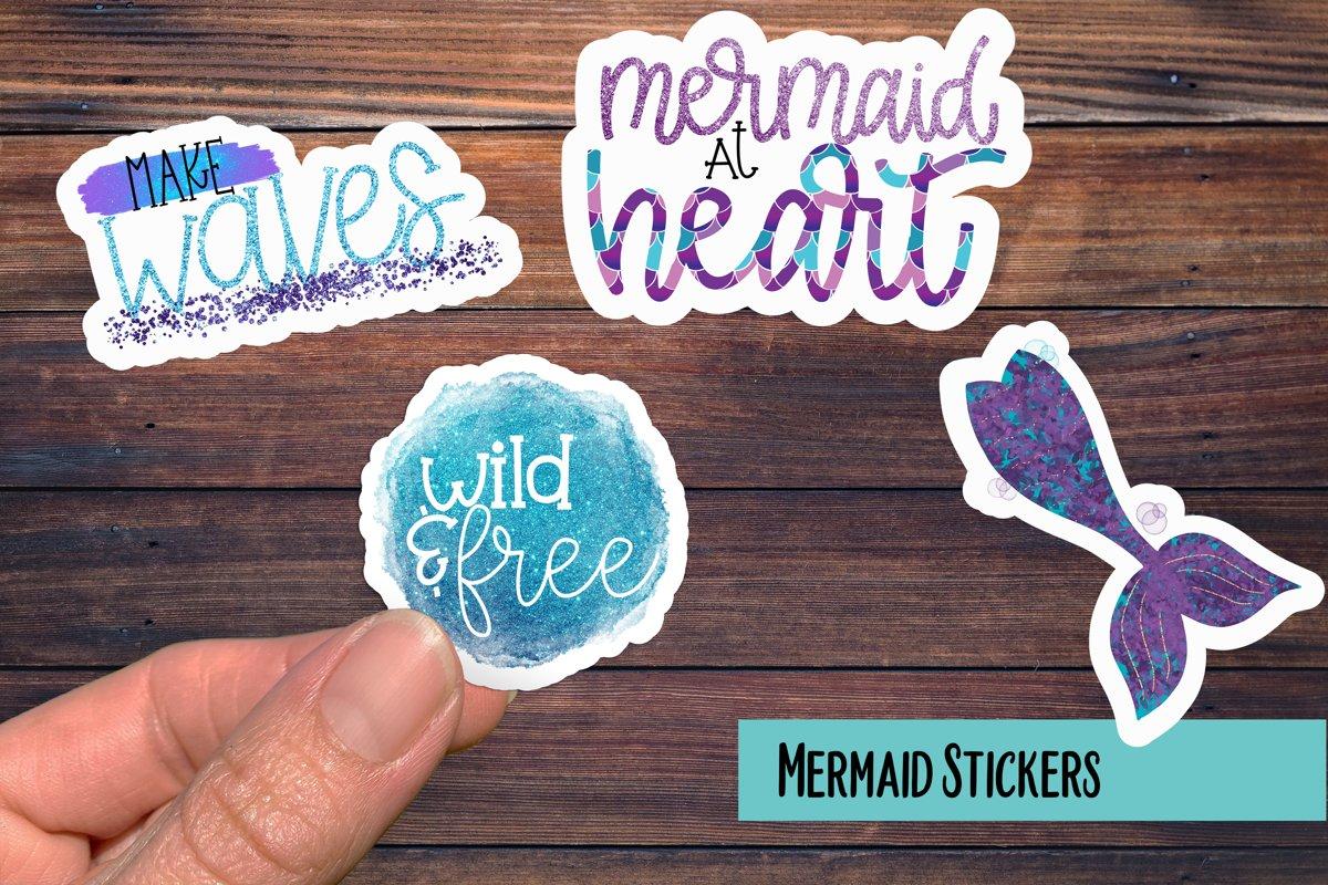 Mermaid PNG Sticker Pack example image 1