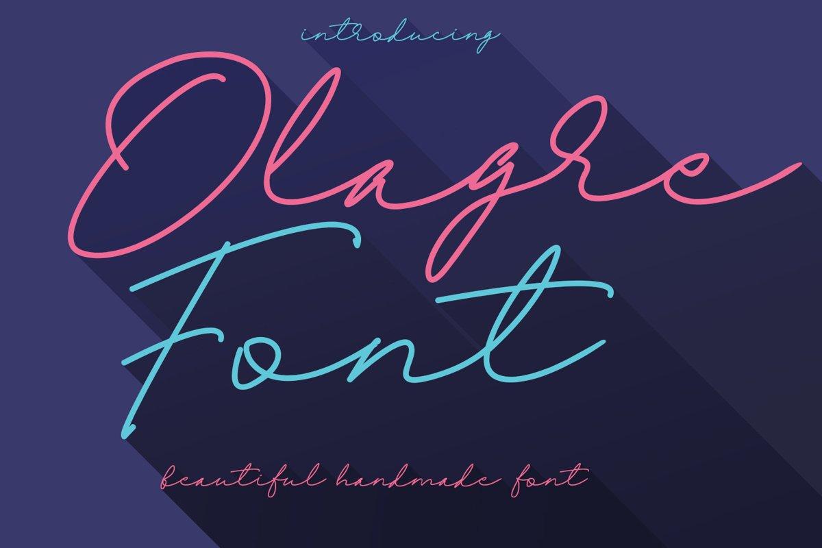 Olagre Beautiful Handmade Font example image 1