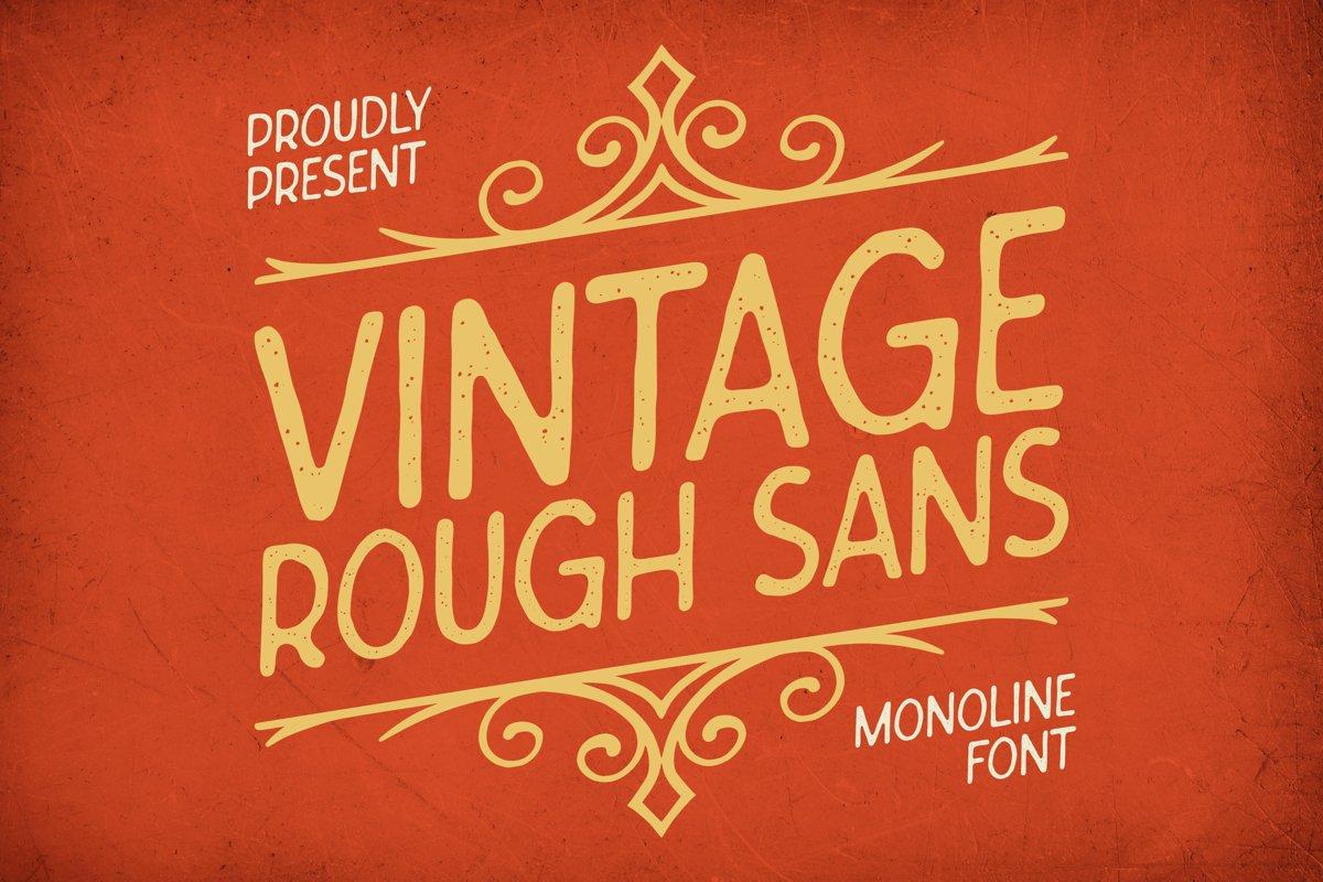 Vintage Rough Sans Font example image 1