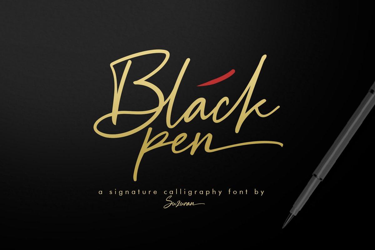 Black Pen Script example image 1