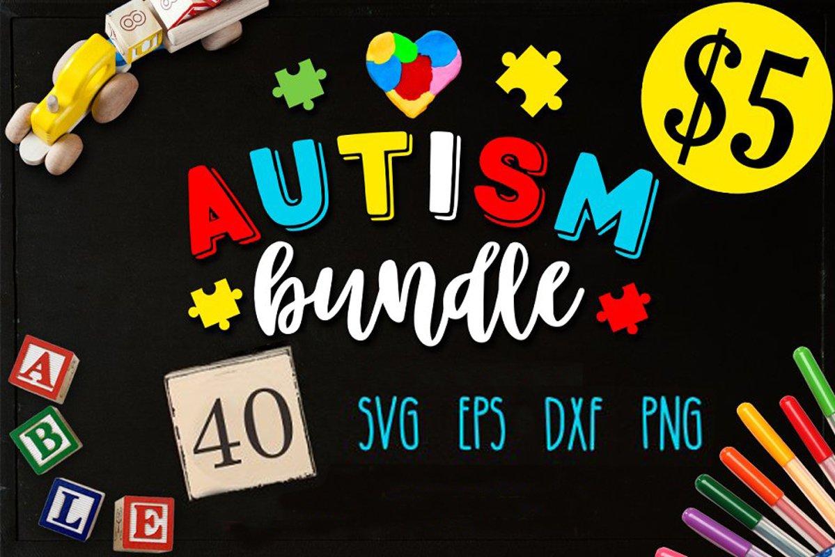 Autism Bundle – 40 autism SVG – Autism awareness Free Download