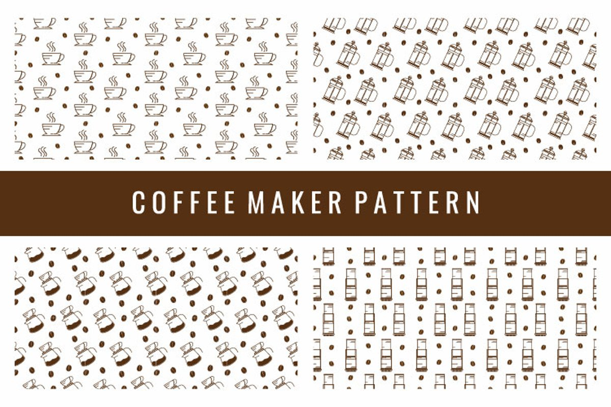 Coffee Maker Seamless Pattern example image 1