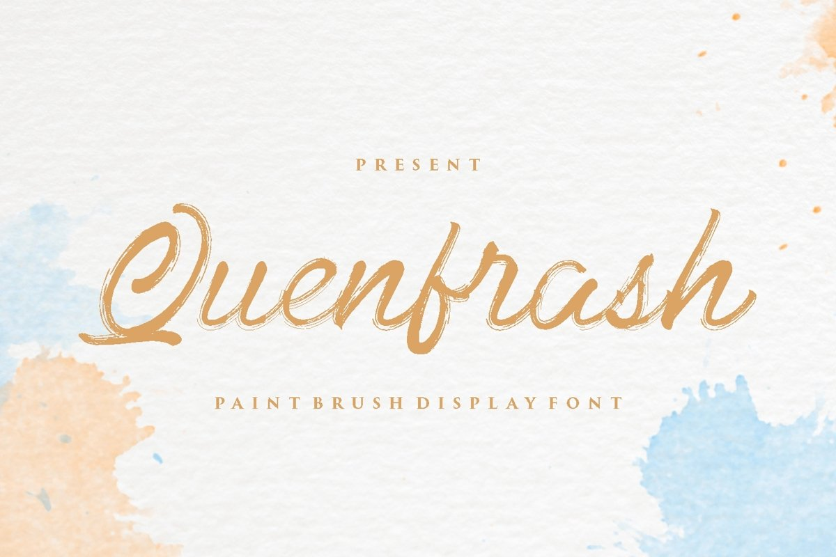 Quenfrash - Display Font example image 1