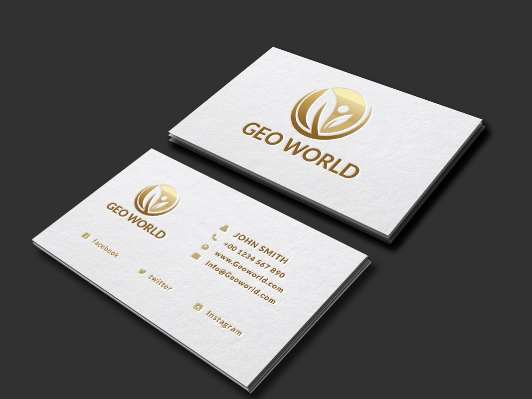 Minimalistic Golden Business card example image 1
