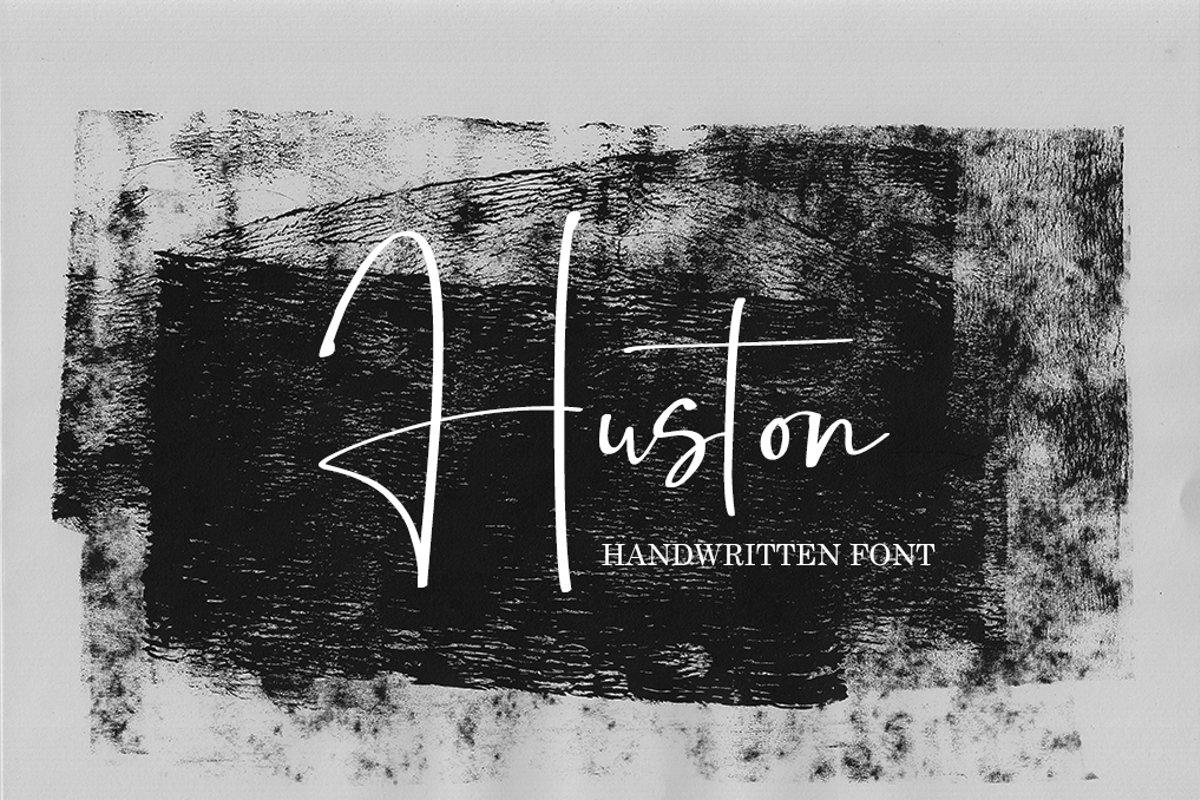 Huston - Script Handwritten Font example image 1