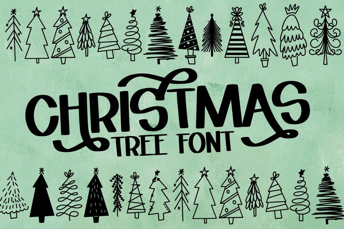Christmas Tree Farm - A Dingbat Font example image 1