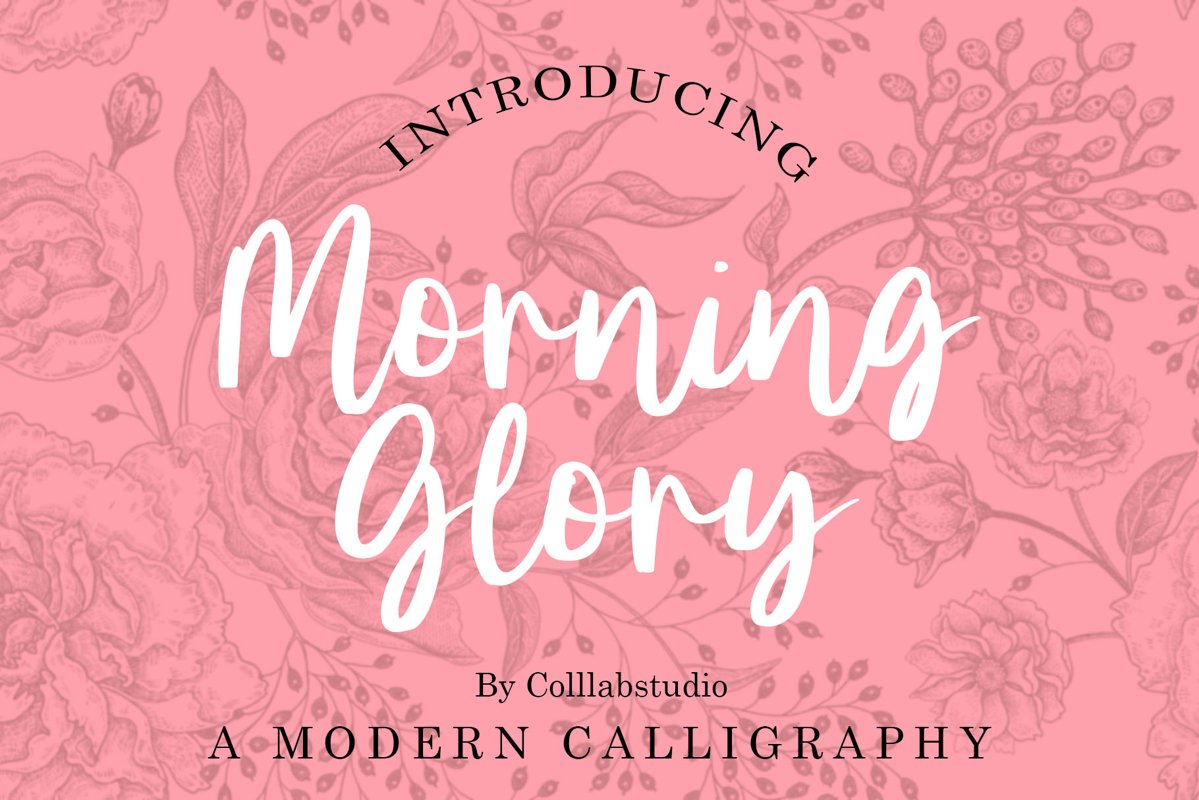 Morning Glory - A Modern Calligraphy Font example image 1
