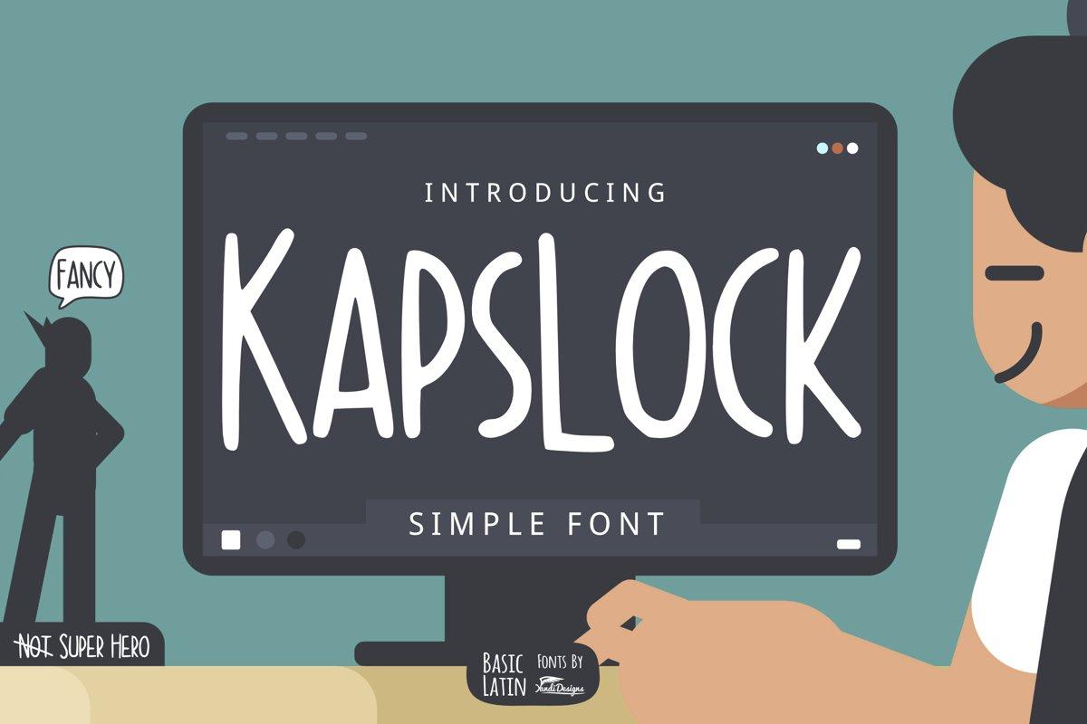 Kapslock Simple Font example image 1