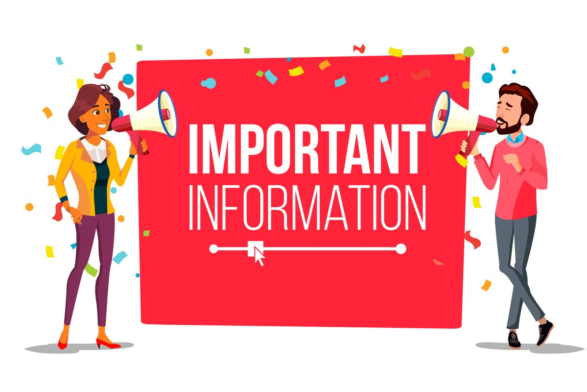 Important Information Attention Banner Vector. Businessman example image 1