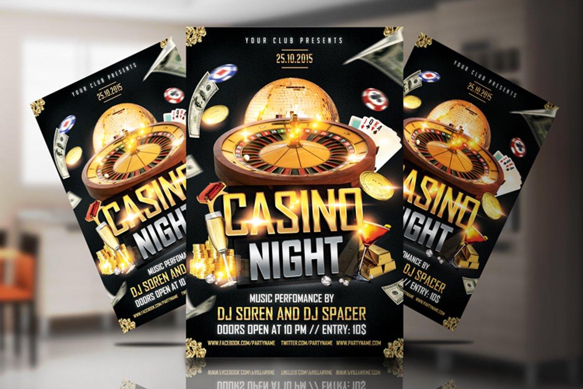 Casino Night Flyer 1 example image 1