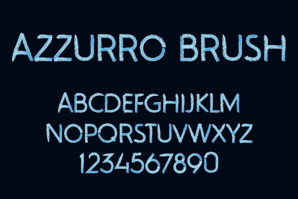Azzurro SVG font example image 1