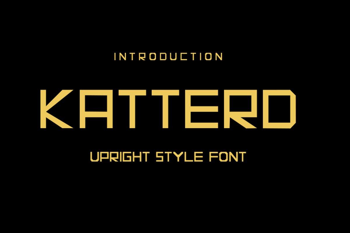 Katterd | Super Sans Serif Font example image 1