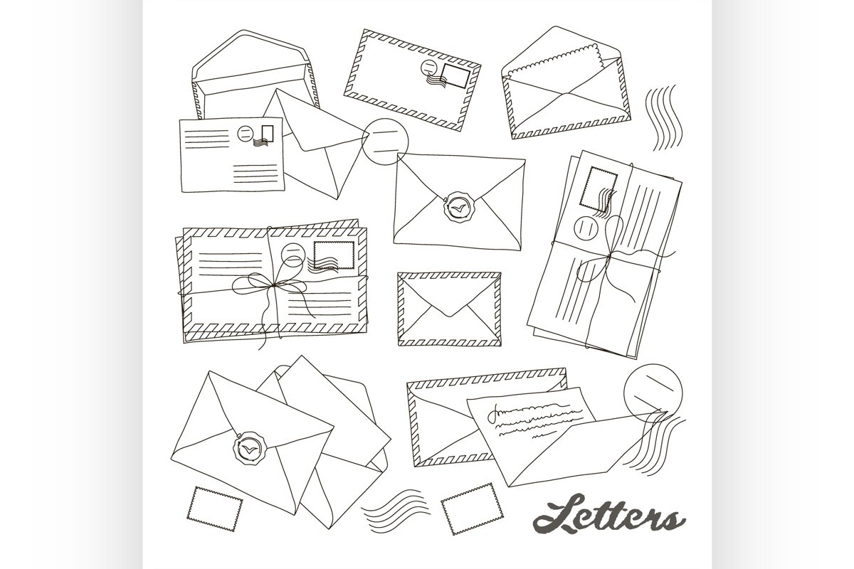 Letter and envelope example image 1