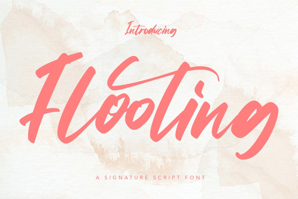 Flooting - Signature Script Font example image 1