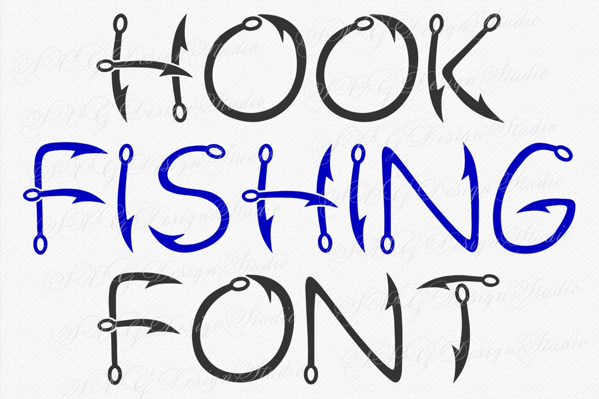 Hook Fishing Font example image 1