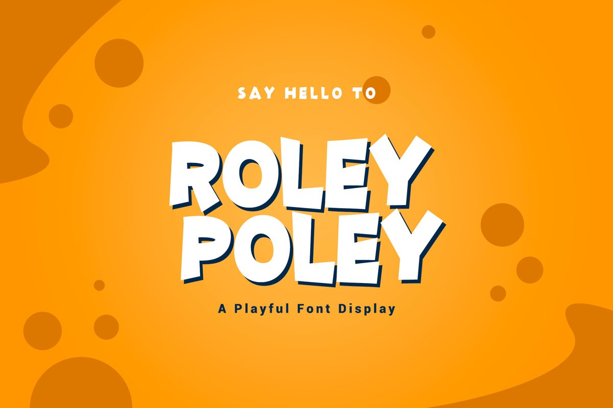 Roley Poley - Playful Font example image 1