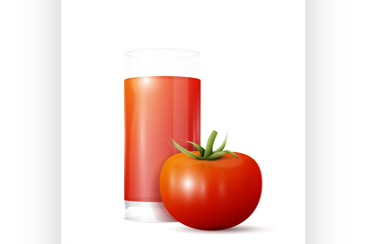 Tomato and glass of juice example image 1