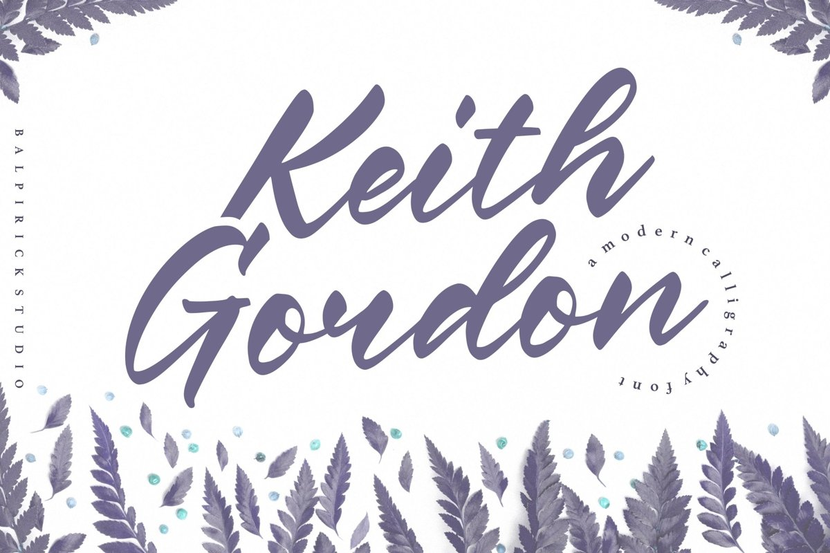Keith Gordon Modern Calligraphy Font example image 1