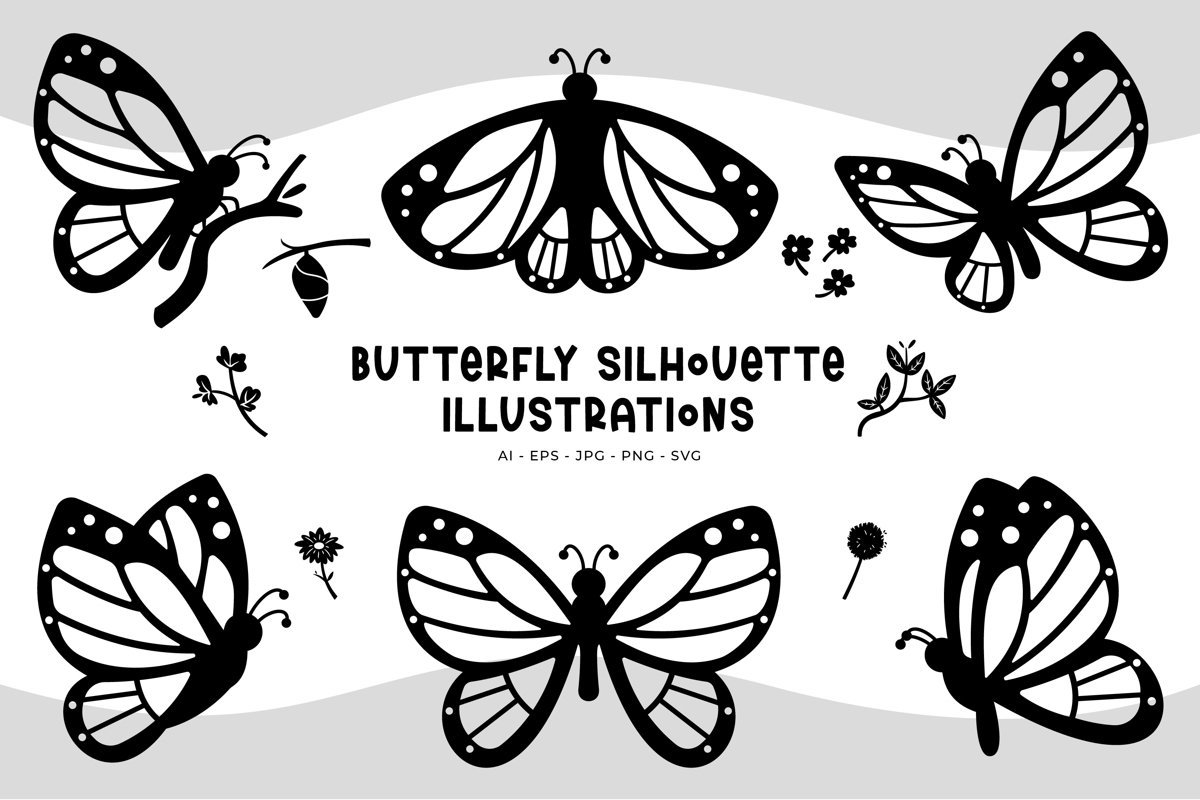 Butterfly Illustrations example image 1